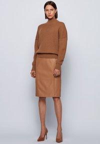 BOSS - SEPASSA - Pencil skirt - light brown - 1