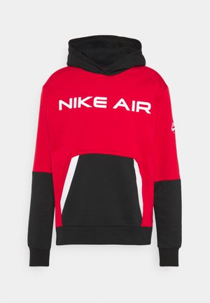 AIR HOODIE - Bluza z kapturem - university red/black/white
