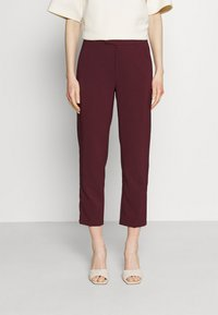 Anna Field - Slim fit business trousers - Trousers - dark red - 0