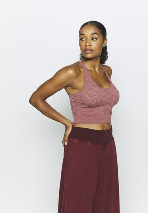 UNIVERSAL SEAMLESS MIDI - Sports bra - deep rose