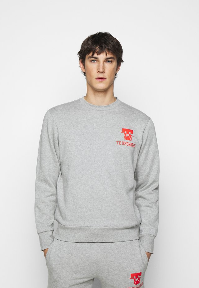 PURE BRUSHED - Sweatshirt - mottled grey/red