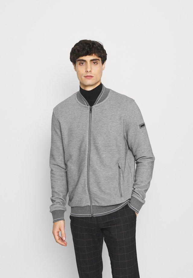 JACKET - veste en sweat zippée - grey