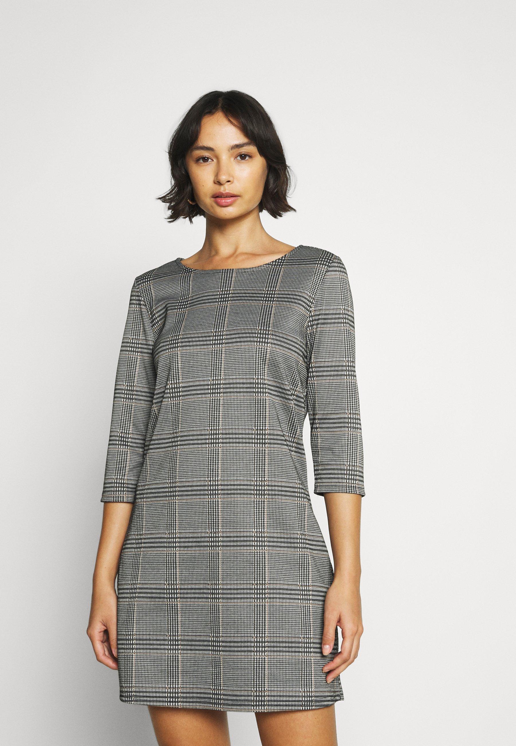 Damen ONLBRILLIANT CHECK DRESS - Jerseykleid