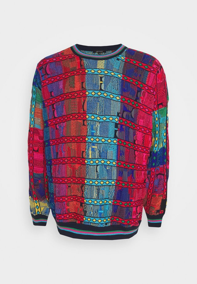 Pullover - pink / blue