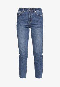ONLY - ONLEMILY RAW ANKLE - Jeans Slim Fit - dark blue denim - 4