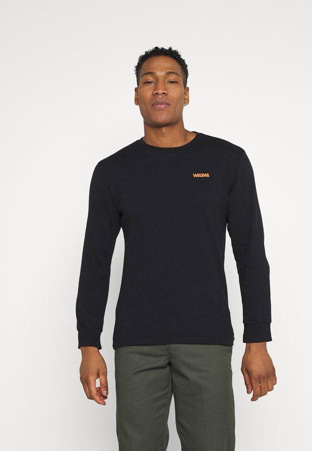 SNAFU LONGSLEEVE UNISEX - Long sleeved top - black/gold