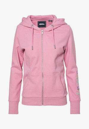 SLEEVE ZIP HOOD - veste en sweat zippée - orchid smoke