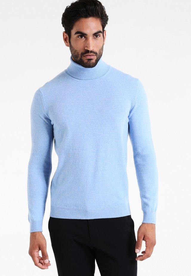 BASIC ROLL NECK - Pullover - hellblau