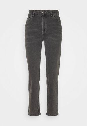 NEA WASHED - Straight leg jeans - black