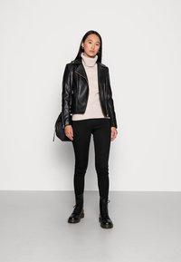 Forever New - CORRIE BIKER - Faux leather jacket - black - 1