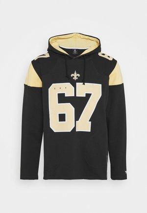 NFL NEW ORLEANS ICONIC FRANCHISE OVERHEAD HOODIE - Klubové oblečení - black
