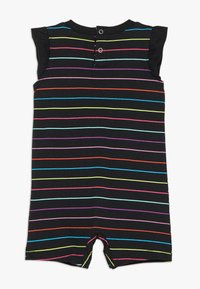 Nike Sportswear - RETRO STRIPE ROMPER BABY - Jumpsuit - black/fire pink - 1
