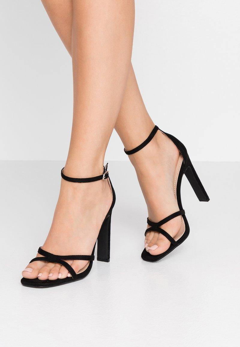 Glamorous Wide Fit - Sandály na vysokém podpatku - black