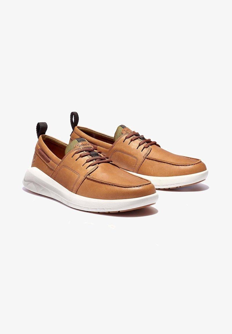 Timberland - BRADSTREET ULTRA BOAT - Boat shoes - cognac