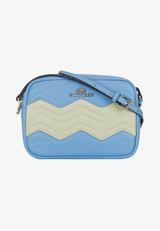 ELEGANCE - Across body bag - blau grau
