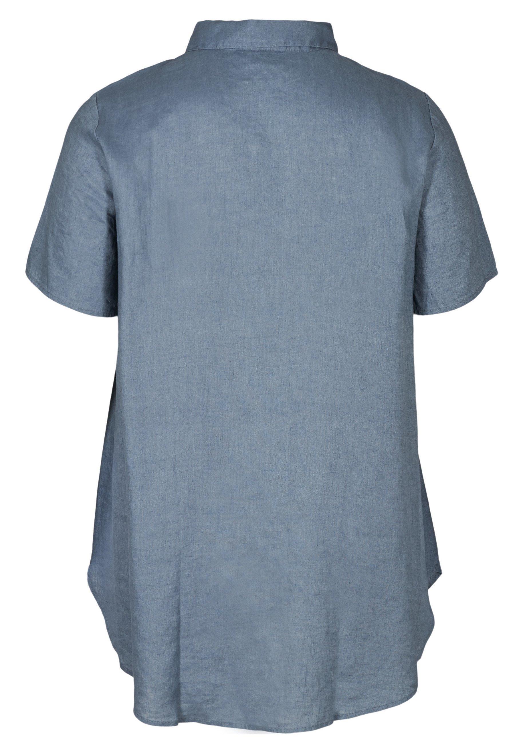 Zizzi Overhemdblouse - light blue - Dameskleding Origineel