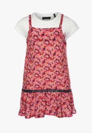 SET - Sukienka letnia - orange foncé
