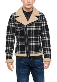 QS by s.Oliver - Blazer jacket - black check - 0
