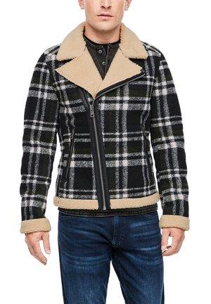 Blazer jacket - black check