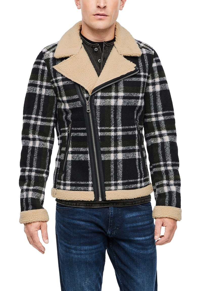 QS by s.Oliver - Blazer jacket - black check