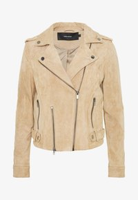 VMROYCELOUISE JACKET - Leather jacket - beige