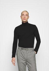 Topman - ROLL NECK 2 PACK - Long sleeved top - black/white - 3