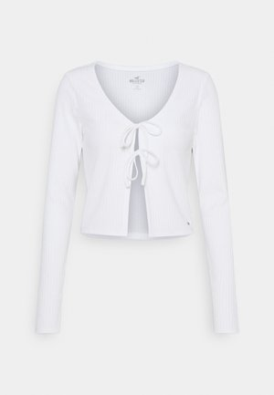 SLIM DOUBLE TIE - Cardigan - white
