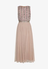 Maya Deluxe - EMBELLISHED OVERLAY DRESS WITH IRIDESCENT SEQUIN DETAIL - Iltapuku - taupe blush - 6