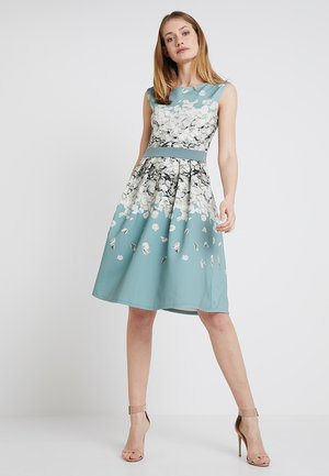 Cocktail dress / Party dress - mint/white