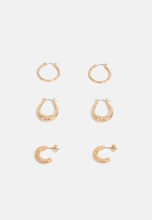 PCILIVIA EARRINGS 3 PACK - Náušnice - gold-coloured