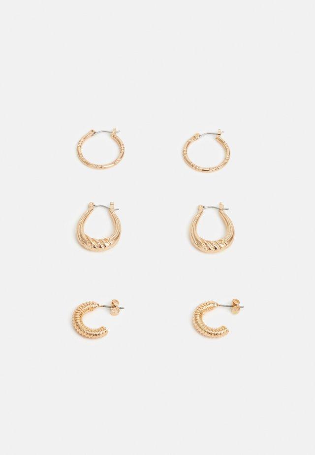 PCILIVIA EARRINGS 3 PACK - Orecchini - gold-coloured