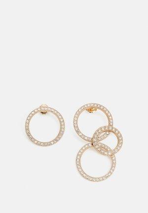 POSTASYMMETRIC TRIPLE CIRCLE - Earrings - gold-coloured