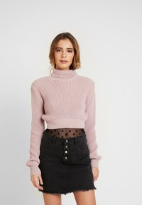 Glamorous - CROP ROLL NECK - Sweter - dusty pink - 0
