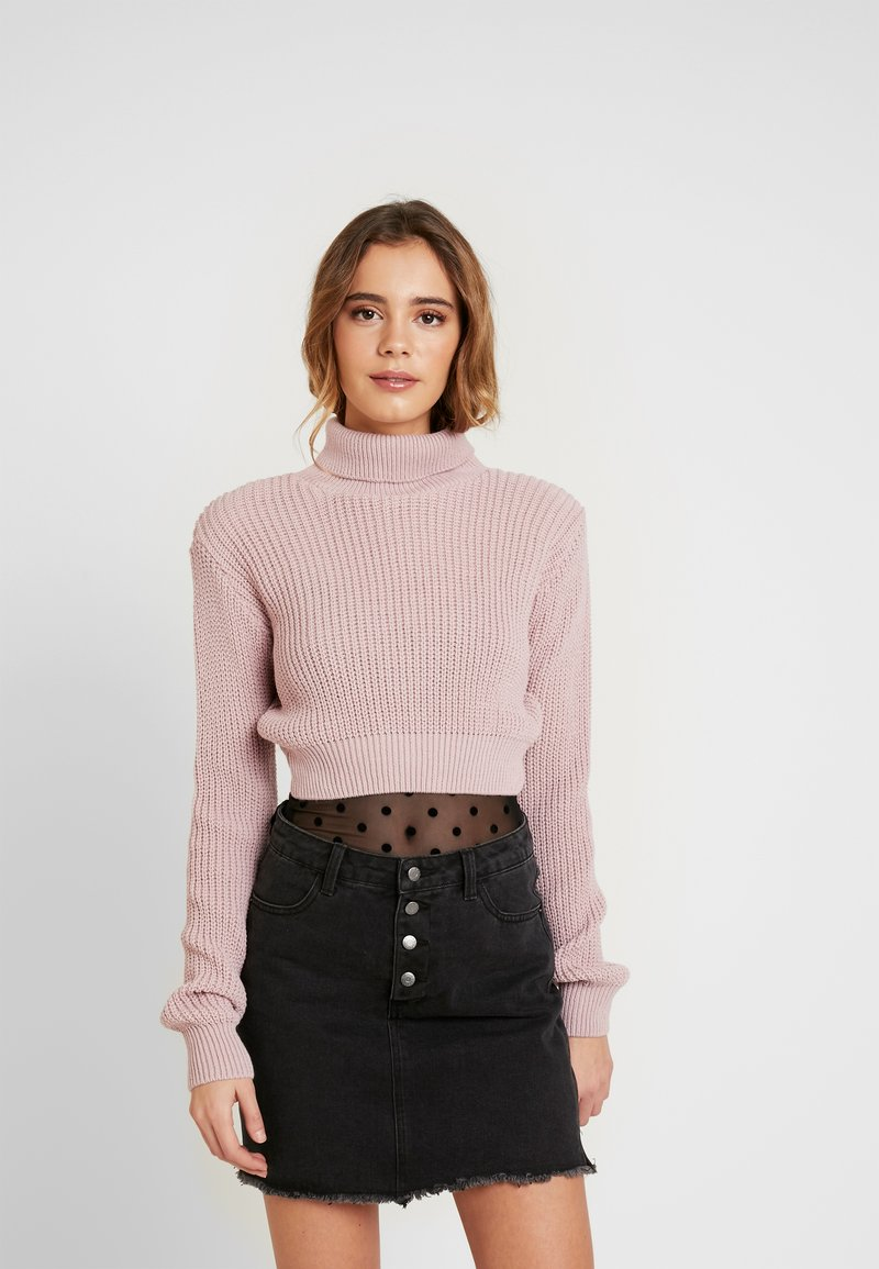 Glamorous - CROP ROLL NECK - Sweter - dusty pink