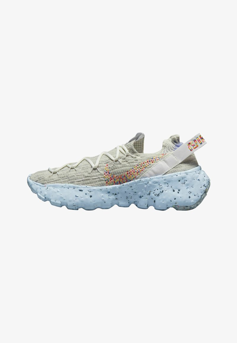 Nike Sportswear - SPACE HIPPIE - Trainers - summit white multi-color-photon dust-concord-chambray blue