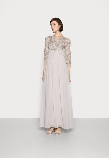 BEADED GOWN WITH SOFT SKIRT - Abito da sera - marble