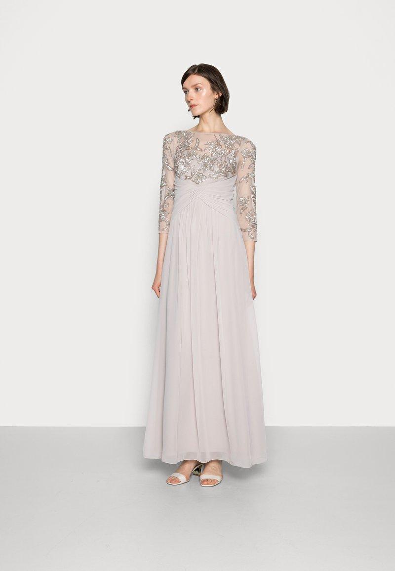 Adrianna Papell - BEADED GOWN WITH SOFT SKIRT - Společenské šaty - marble