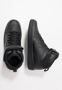 Nike Sportswear - COURT BOROUGH MID 2 UNISEX - Sneakersy wysokie - black - 0