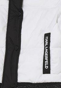KARL LAGERFELD - PUFFER JACKET - Zimní bunda - white/black - 2