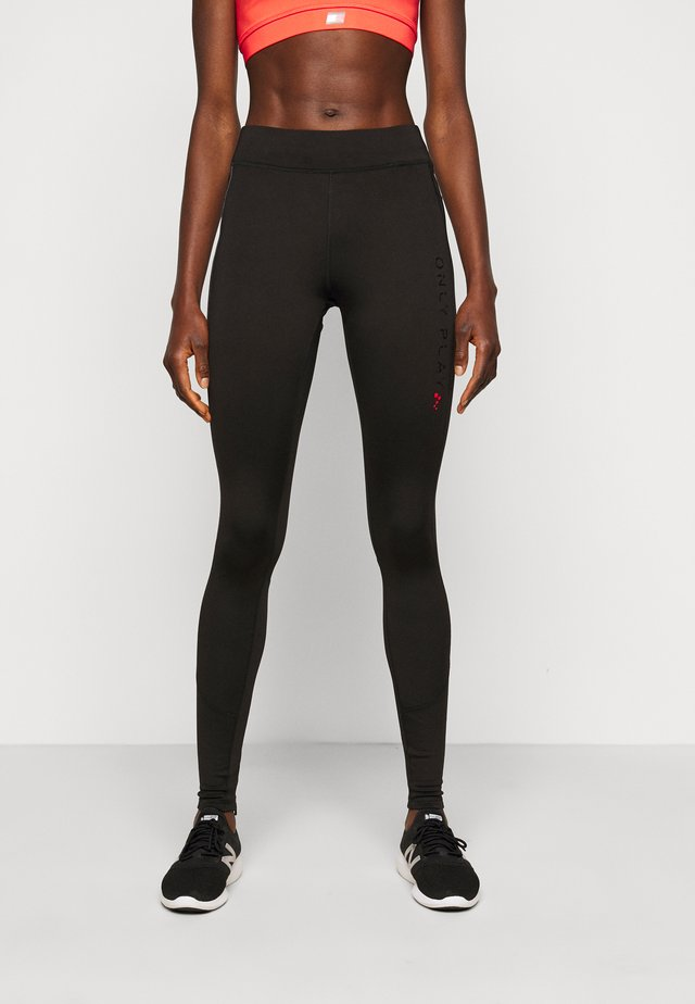 ONPPERFORMANCE RUN BRUSHED TIGHTS - Legging - black