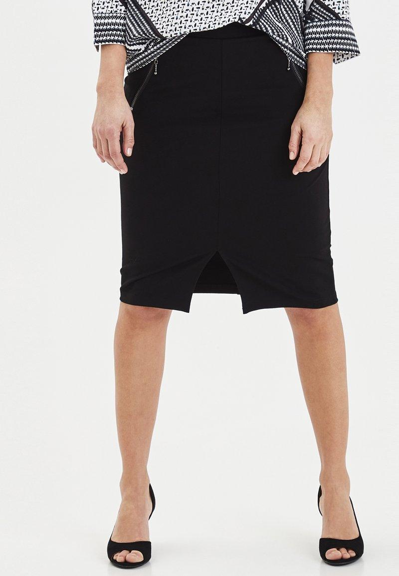 Fransa - FRITSTRETCH - Blyantnederdel / pencil skirts - black