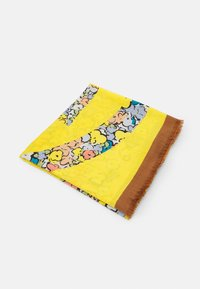 COLOR BLOCK PAINTED FLORAL OVERSIZED SQUARE - Foulard - multicoloured