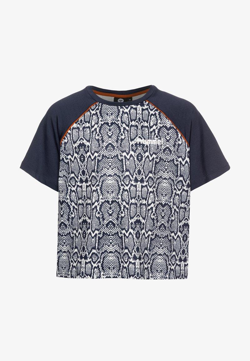 Hummel - Print T-shirt - blue nights