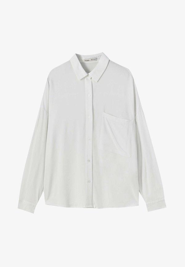 PULL&BEAR Koszula - white/biały LACP
