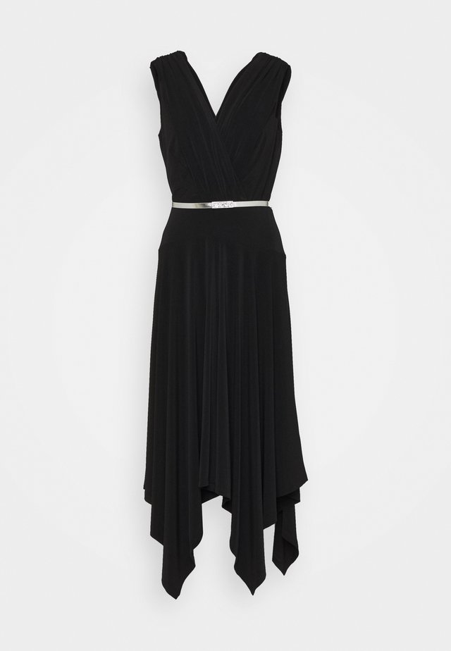ORION CAP SLEEVE - Vestito elegante - black