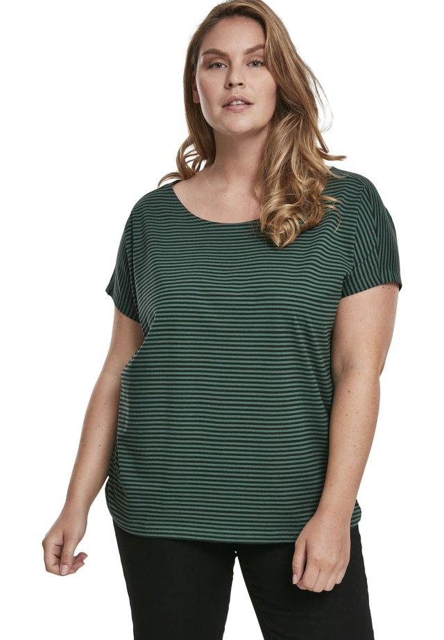T-shirt con stampa - darkfreshgreen/black