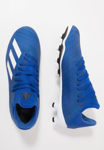 X 19.3 MG - Moulded stud football boots - royal blue/footwear white/core black