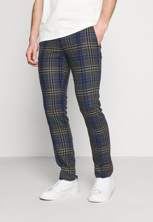 LEIGHTON TROUSERS - Broek - blue/yellow