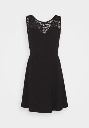 VMVALENTINA SWEETHEART DRESS - Vestido de cóctel - black