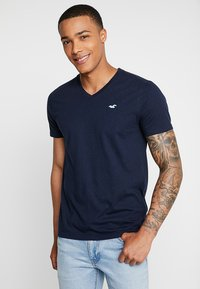Hollister Co. - ICON VARIETY - Basic T-shirt - navy/mint - 0